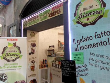Gelateria Bizarre a Salerno: graffe, gelati e crepes senza glutine e lattosio
